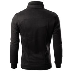 Mens High Neck Cotton Zipup Jacket (606) Mens Sweatshirts, Mens Lightweight  Jacket, 6d138246820