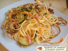 Spaghetti+con+spaghetti+di+zucchine+croccanti