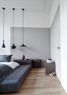 Remy Meijers Gray Color-Blocked Bedroom Wall