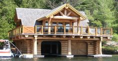 Stunning Waterfront Log Home with Spectacular Must SEE Interior