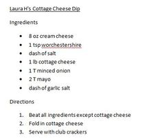 Cottage Cheese Dip