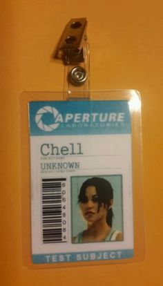 Portal-Id-Badge-Aperture-Chell-w-photo-costume-prop-cosplay