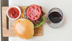 Classic American Burgers paired with a classic Les Dauphins Rhône Wine Enthusiast Magazine, American Burgers, Bistro Food, Pork Chops, Dinner Recipes, Classic, Pork Chop, Classical Music, Pork Ribs