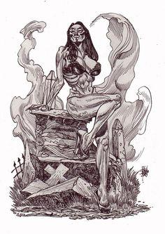 Zombie Art : Zombie Pinup #219