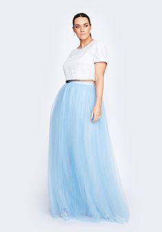 This is plus size tulle skirt is amazing.