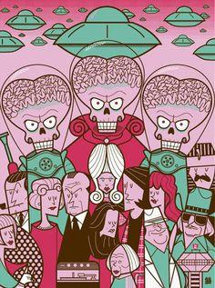 Mars Attacks poster by Ale Giorgini
