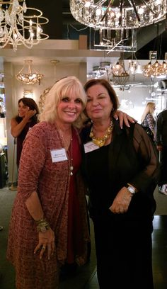 Ann Cahill of Pacific Liteforce Sales and Linda Sherman of Pacific lighting