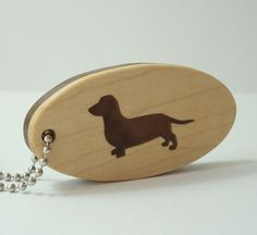 Dachshund Key Chain Wood Scroll Saw Keychain by OohLookItsARabbit, $15.00