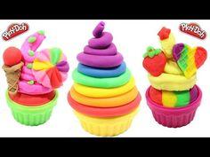 PLAY DOH - clay rainbow ice cream cups licorice along peppa pig toys 2 - YouTube
