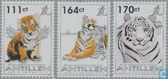 Postage Stamps - Netherlands Antilles - Year of the Tiger