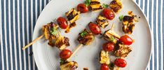 Halloumi, the salty sheep's-milk cheese from Cypress, is skewered with cherry tomatoes before being grilled and topped with a boatload of chile oil, torn mint and lime zest. It's an easy …