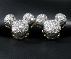 DISNEY Hallmarked Mickey/Minnie Mouse Diamond Earrings - RARE! To be a teenager again! I would buy these in a heart beat, but being 50:)