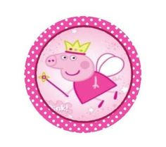 24 x Fairy Peppa Pig Edible *Icing* Cupcake Toppers (Pre Cut)