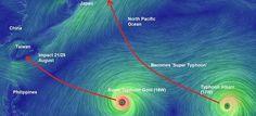 Twin Typhoons Take Aim For Taiwan, Japan, Korean Peninsula