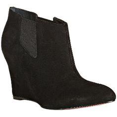 My new BCBGMAXAZRIA Black Suede Paris Wedge Booties