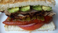 From the grill:  a two meat and two pepper sandwich