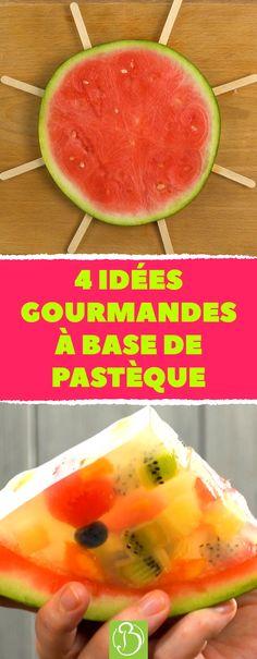 4 choses délicieuses que vous pouvez faire avec une pastèque. #pastèque #fruit #sorbet #recette #bonap #agar