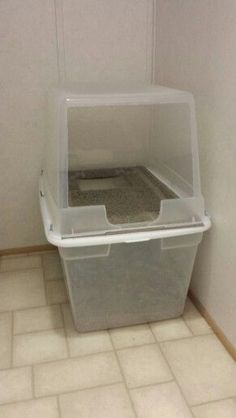 modified kitty litter box