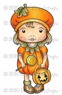 Pumpkin Marci Rubber Stamp