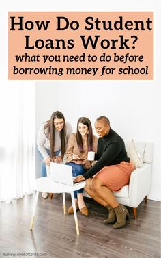 How Do Student Loans Work? What You Need To Know About Borrowing Money For School #howdostudentloanswork #studentloans Student Loan Calculator, Student Loan Payment, Paying Back Student Loans, Federal Student Loans, Private Loans, Private Student Loan, College Planning, Saving For College