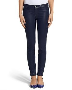 White House | Black Market Coated Skinny Jean LOVE THIS!!!  Getting it when they are in the stores.  Double Ankle Strap Heel #whbm