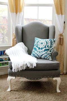 The Painted Upholster Chair Project Revamp your ugly old furniture into nice modern looking ones