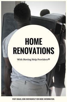 Step one of your home renovation: moving stuff out of the way. That's where Moving Help Marketplace comes in! You can hire Moving Help Providers® in your area to do the dirty work for you: Home Renovation, Home Projects, Decorating Your Home, Work On Yourself, New Homes, House Projects