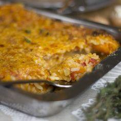 Time efficient and nourishing, try out Shirley Berko's cheesy rice bake tonight! #recipe #freshlyblogged #picknpay
