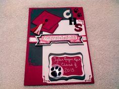 Congrats Grad - Scrapbook.com Graduation Cards, Graduation Ideas, Scrapbooking Layouts, Diy Cards, Homemade Cards, Paper Crafting, Cardmaking, Card Ideas, Congratulations
