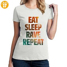 Eat Sleep Rave Repeat XXL Damen T-Shirt (*Partner-Link)