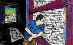Paro Zampa - Sketching by Phalchen Samdrup in My Scrapbook at touchtalent 19890