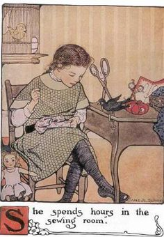 The Mary Frances sewing book or Adventures among the thimble people by Jane Eayre Fryer; illustrated by Jane Allen Boyer, 1913