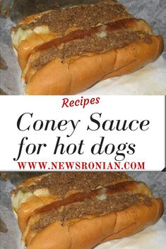CONEY SAUCE for HOT DOGS We're not talking chili dogs here. A Coney Island Hot Dog has a unique flavor. My friend got this recipe from a Coney Island Restaurant owner, and it tastes exactly like Hot Dog Chili Sauce Recipe, Meat Sauce Recipes, Chilli Recipes, Hot Dog Recipes, Coney Island Chili Recipe, Recipe For Coney Island Hot Dogs, Coleslaw Recipe For Hot Dogs, Homemade Hotdog Chili Recipe, Gourmet