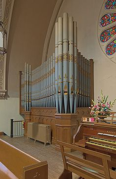 Immaculate Conception Roman Catholic Church, in Maplewood, Missouri, USA - organ pipes - St. Louis