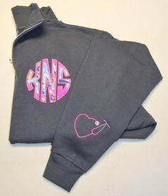Lily Pulitzer Monogrammed 1/4 Zip sweatshirt by StitchedInStyle1 GRAD GIFT?