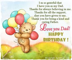 Birthday wishes for my dad happy birthday greetings for dad dgreetings happy birthday father card m4hsunfo
