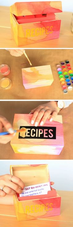 Recipes Box | DIY Mothers Day Gift Ideas from Daughter | Handmade Birthday Gifts for Grandma