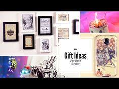 DIY: Gift Ideas for Book Lovers - YouTube