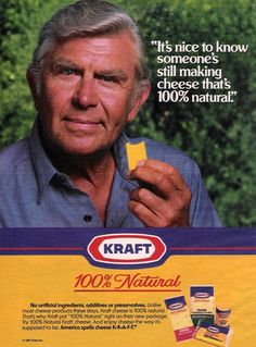 Andy Griffith 1987 Kraft Cheese Ad