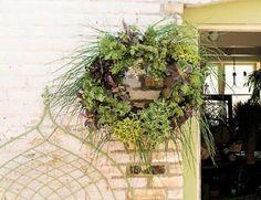Living Herb Wreath...tutorial