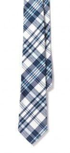 "J. Press Madras Plaid Tie - Blue Multi - 2.75"" $89.50"