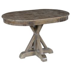 Kosas Home Hand Distressed Rockie Rustic Mocha Sustainable Plantation Grown Pine Oval Dining Table | Overstock.com Shopping - The Best Deals on Dining Tables