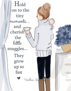 Mom quotes. Wall Art for Moms and Women Tiny Moments by RoseHillDesignStudio