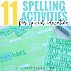 11 differentiated spelling activities for the special education classroom. This Kindergarten-level spelling curriculum will last you 36 instructional weeks and covers all of the sight words on the Pre-Primer and Primer Dolch word lists. Based on the ability levels of your students, place them in one of three differentiated levels and let my planning do the rest for you. This spelling curriculum is a systematic curriculum, so the students perform the same activities each week. Mrs. D's Corner