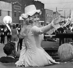 From the '70s...Dolly returned to her hometown of Sevierville, Tenn., as Grand Marshall of a parade celebrating her.