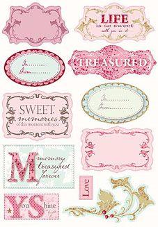 Tilda Deco Labels Printable Labels, Printable Paper, Free Printables, Decoupage, Collages D'images, Etiquette Vintage, Diy And Crafts, Paper Crafts, Vintage Labels