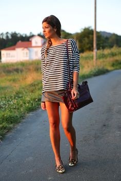 trendy_taste-look-outfit-street_style-ootd-blog-blogger-fashion_spain-moda_españa-girissima-jessica_simpson-chic_place-leo_print-leopardo-burgundy-granate-striped-rayas-10