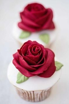 Red Rose Decorated Ube Cupcakes with Cream Filling #lenoxweddingcolors