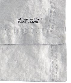 Washed linen tablecloth with double-stitched seam at edges. Tumble drying will help keep linen soft. - Great for curtains. Linen Fabric, Linen Bedding, Stall Display, Linen Cabinet, H&m Home, Linen Tablecloth, H&m Online, Fabric Patterns, Fashion Online