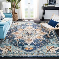 Overstock.com: Online Shopping - Bedding, Furniture, Electronics, Jewelry, Clothing & more Light Blue Area Rug, Blue Area Rugs, Monaco, Tapete Floral, Traditional Area Rugs, Polypropylene Rugs, Transitional Rugs, Rectangular Rugs, Rectangle Area